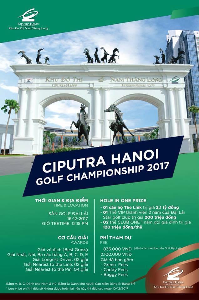 Giải golf Ciputra Hanoi Golf Championship 2017