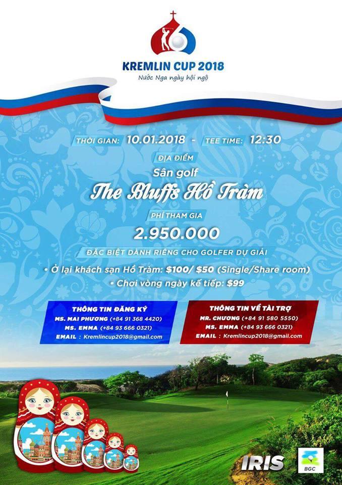 Giải golf Kremlin Cup 2018 - Nước Nga ngày hội ngộ