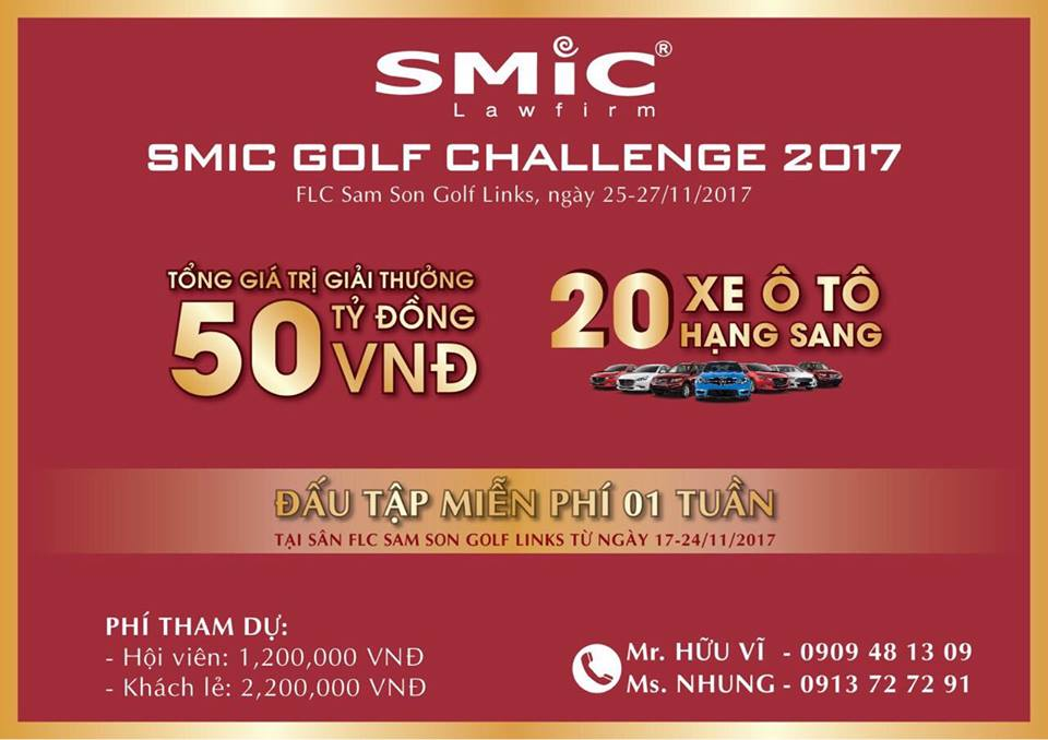 Giải golf SMIC Golf Challenge 2017