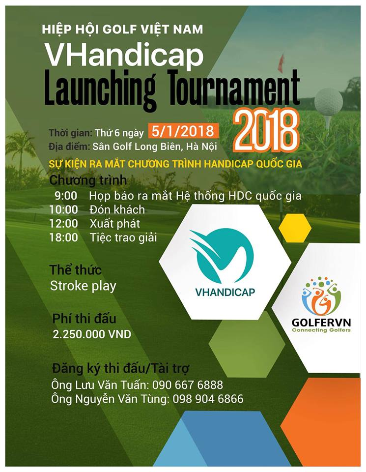 Giải golf VHandicao Launching Tournament 2018