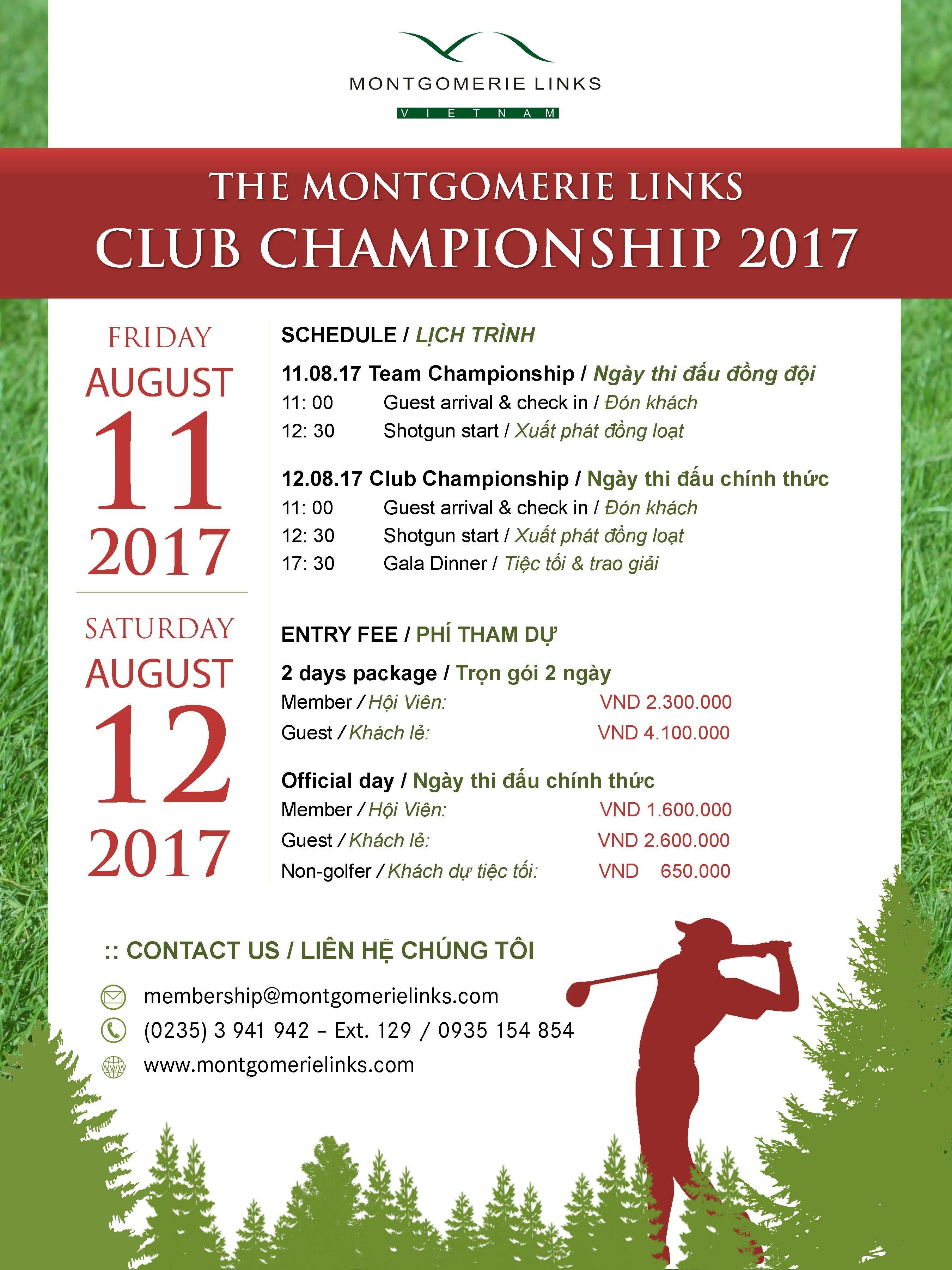 Giải Montgomerie Links Vietnam Club Championship 2017