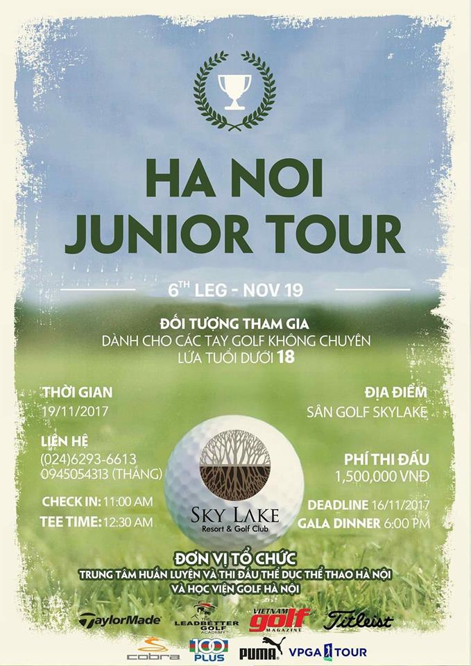 Hệ thống giải golf trẻ Ha Noi Junior Tour - Vòng 6