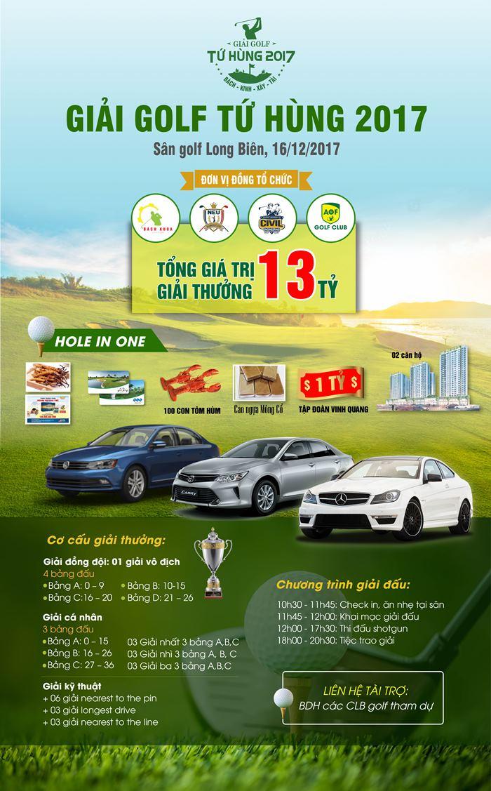 Giai golf Tu Hung 2017