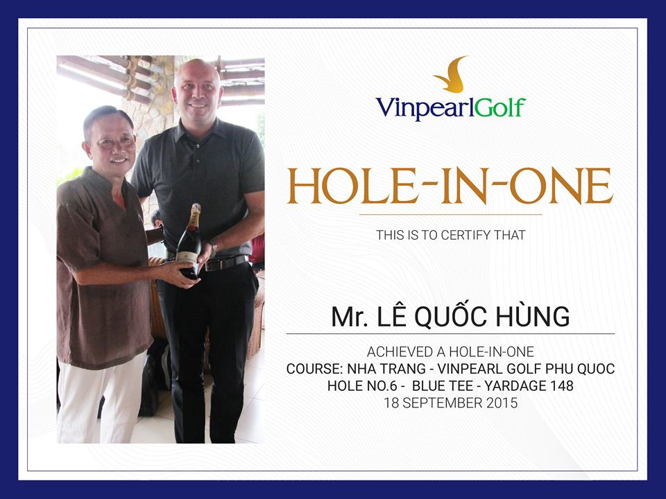 Hole in one, vinpearl Phu Quoc